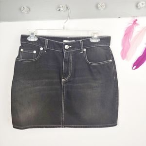 Size 6 | GANNI Mini Denim Skirt Black Wash